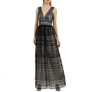Nicole Miller Black Lace Gown